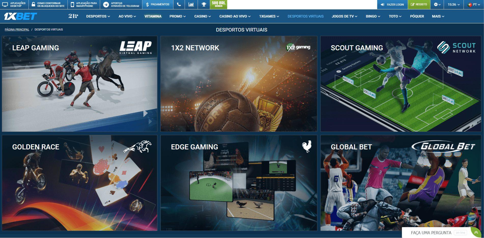 vários esportes  virtuais que você encontra na 1XBET