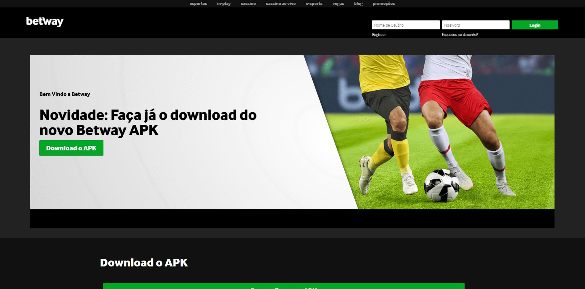 faça o download do novo Betway APK