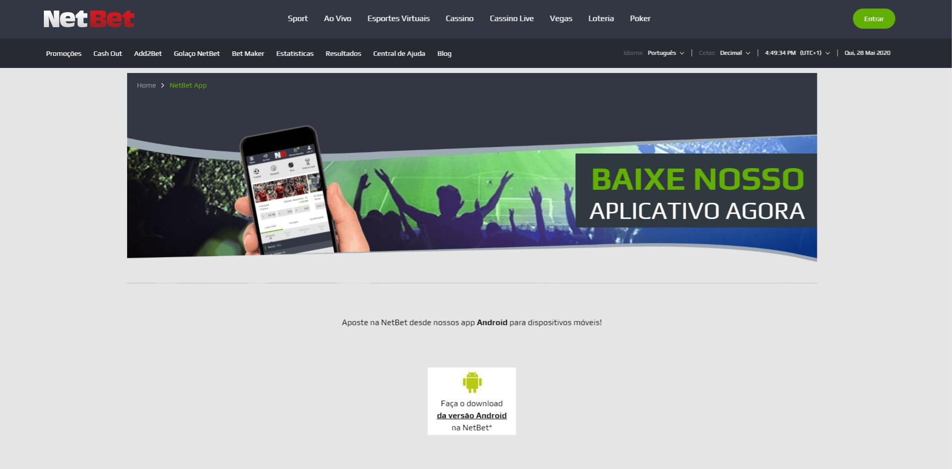 baixe o aplicativo NetBet para Android