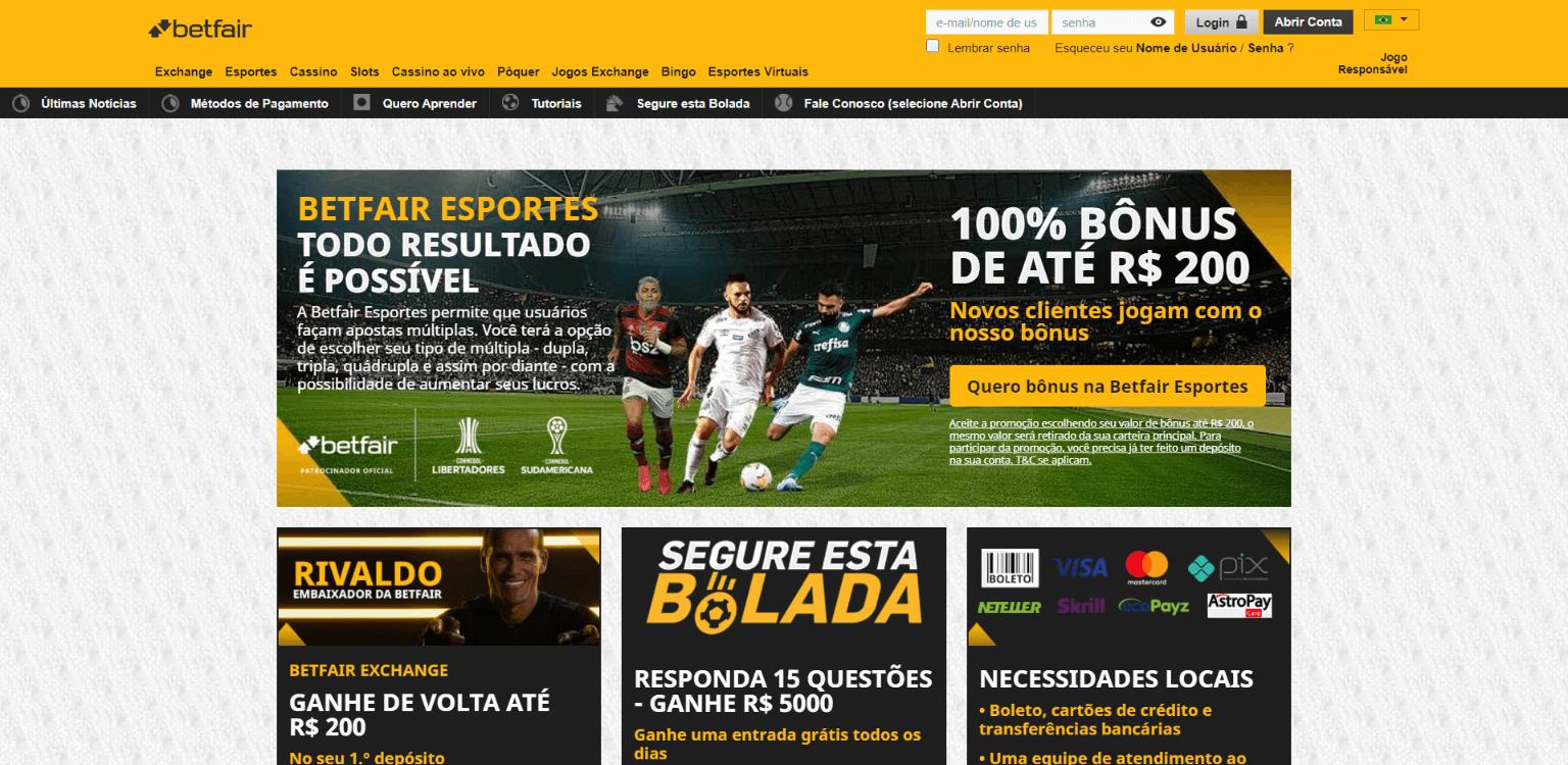 várias promoções disponíveis na Betfair Brasil