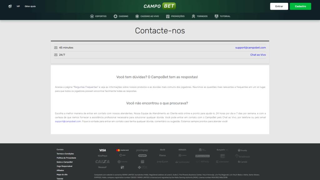 CampoBet Apoio ao Cliente