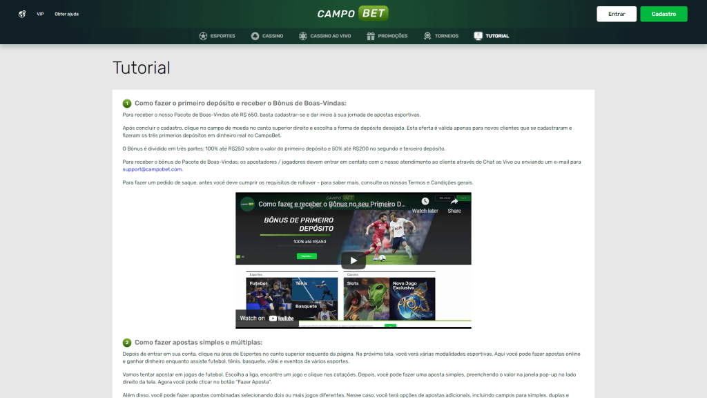 CampoBet Tutorial